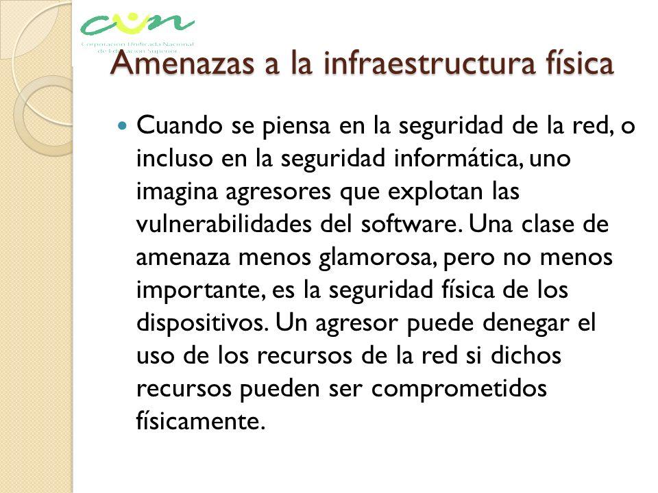 Amenazas a la infraestructura física