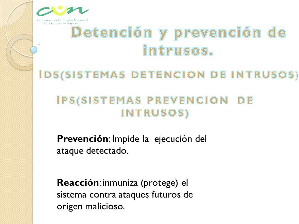 Detención y prevención de intrusos.