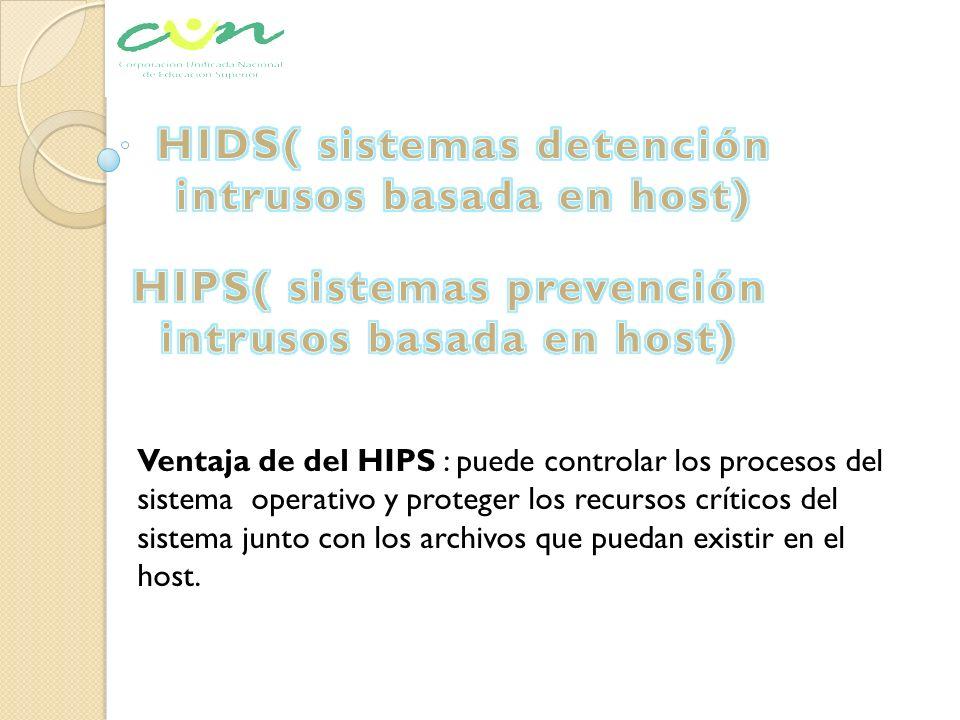 HIDS( sistemas detención intrusos basada en host)