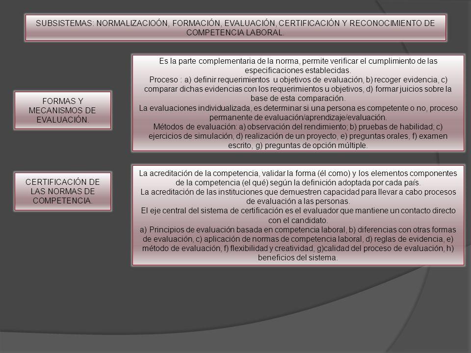 FORMAS Y MECANISMOS DE EVALUACIÓN.