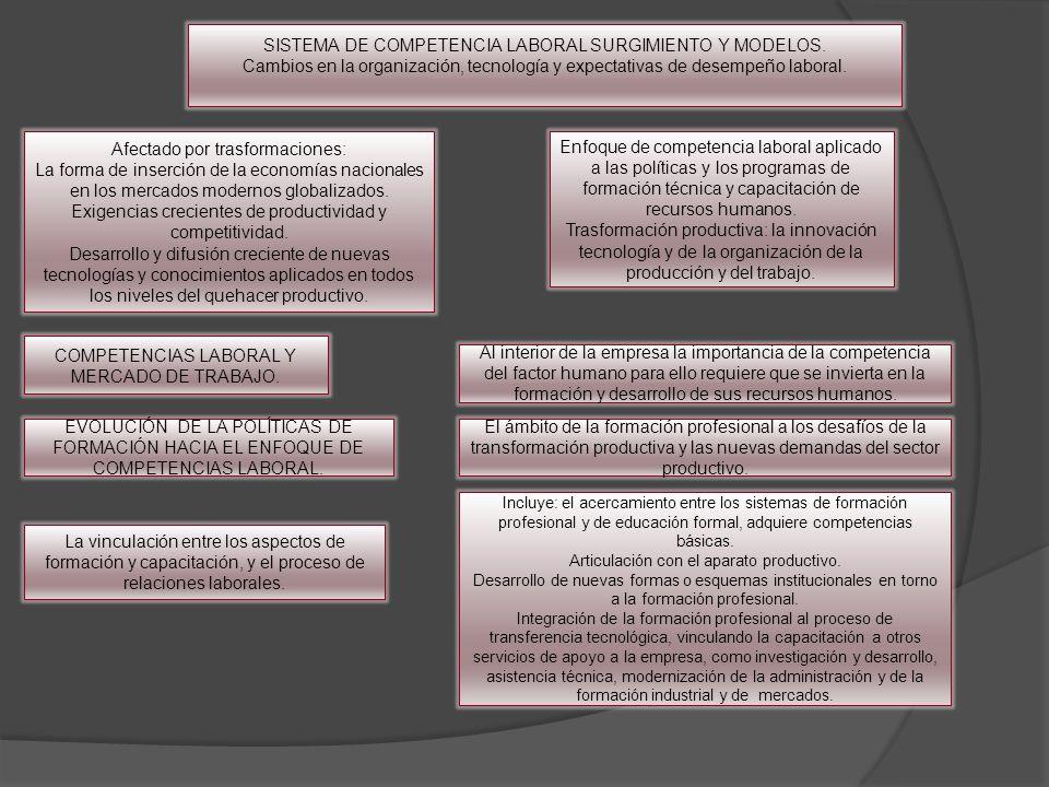 SISTEMA DE COMPETENCIA LABORAL SURGIMIENTO Y MODELOS.
