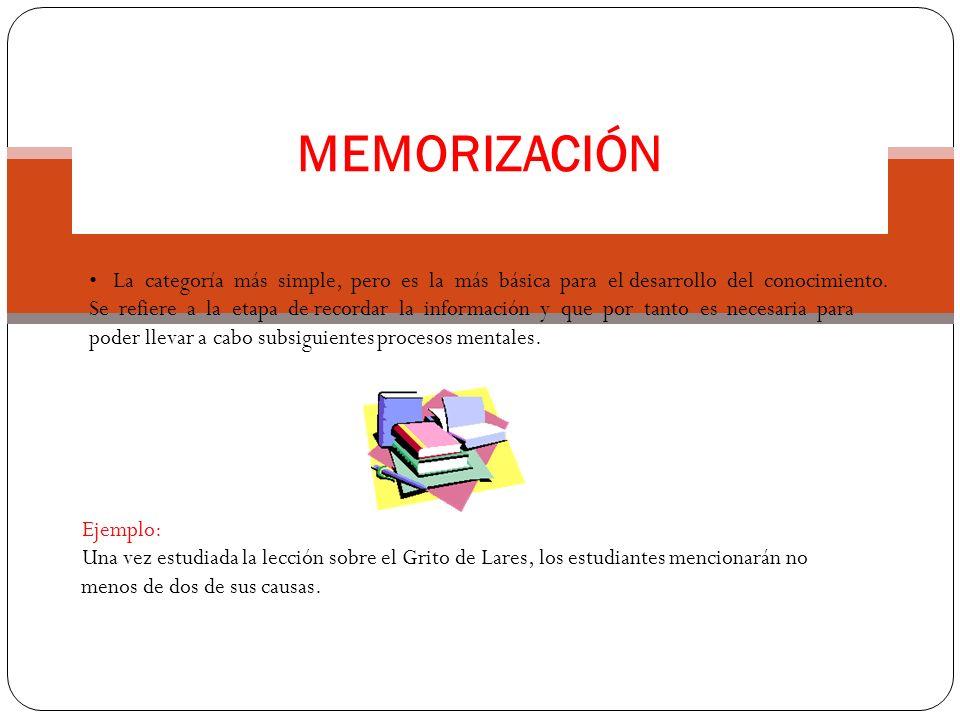 MEMORIZACIÓN