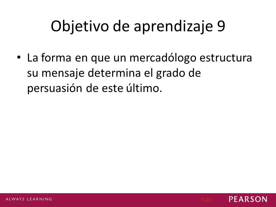 Objetivo de aprendizaje 9