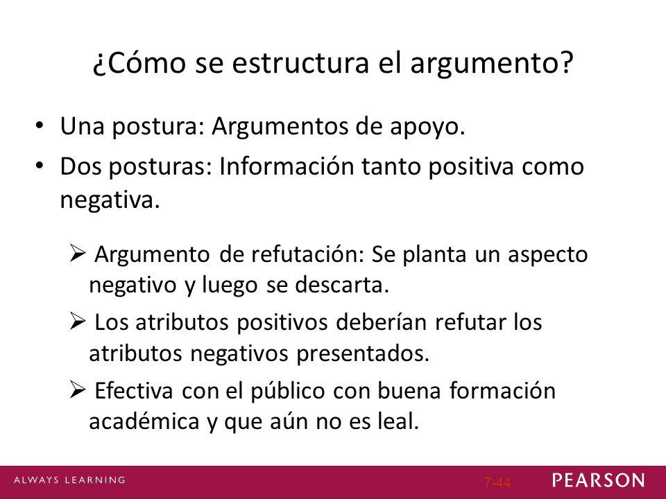 ¿Cómo se estructura el argumento