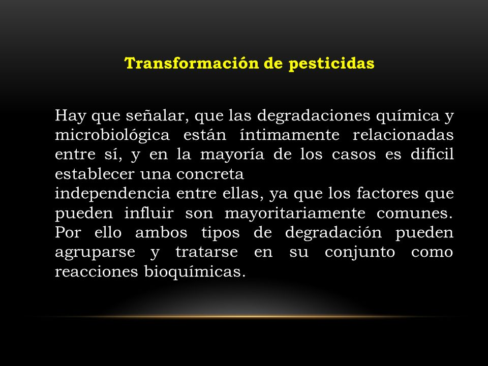 Transformación de pesticidas
