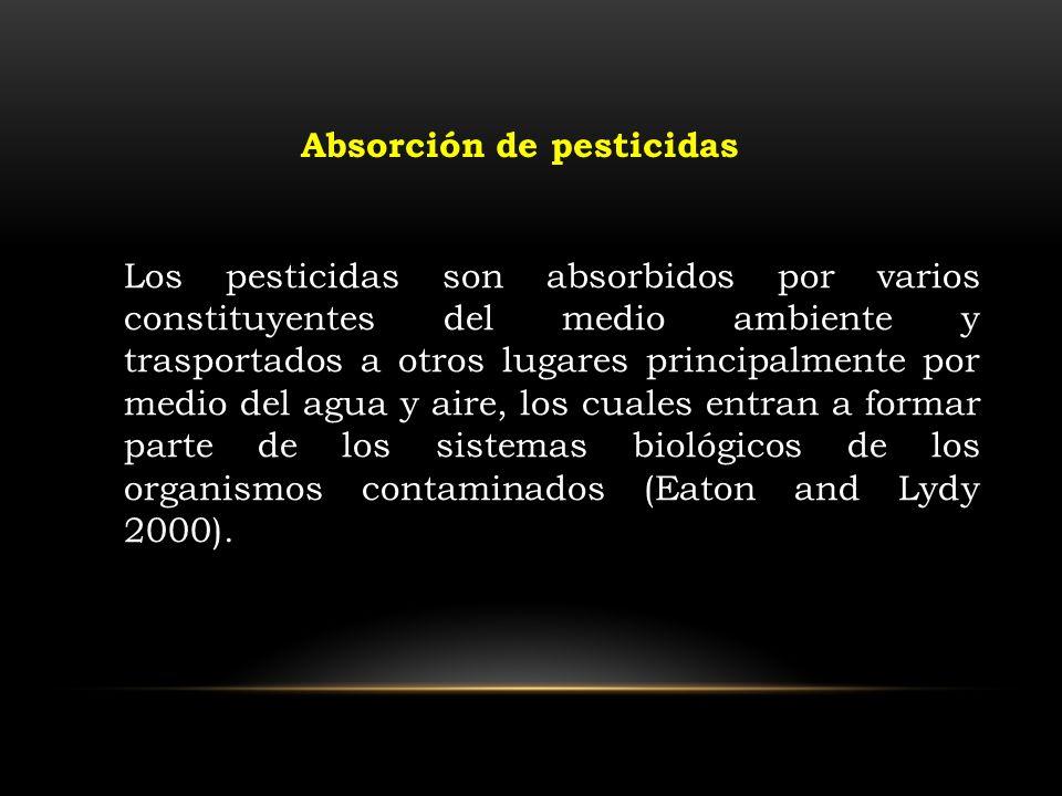 Absorción de pesticidas