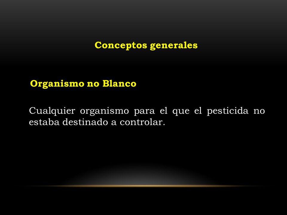 Conceptos generales Organismo no Blanco.