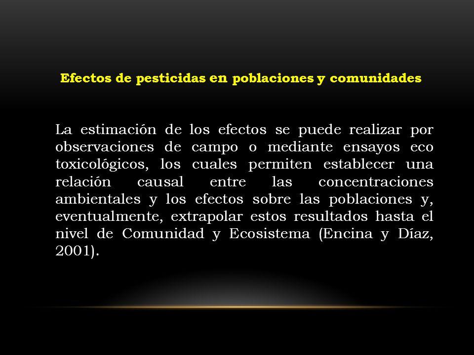 Efectos de pesticidas en poblaciones y comunidades