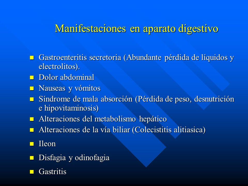 Manifestaciones en aparato digestivo