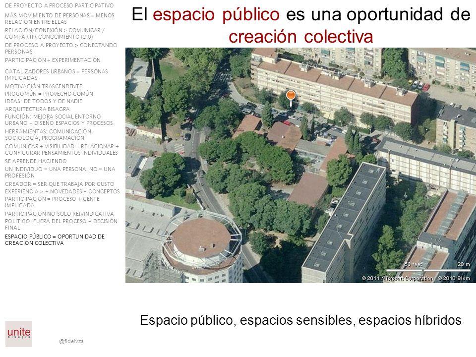 El espacio público es una oportunidad de creación colectiva