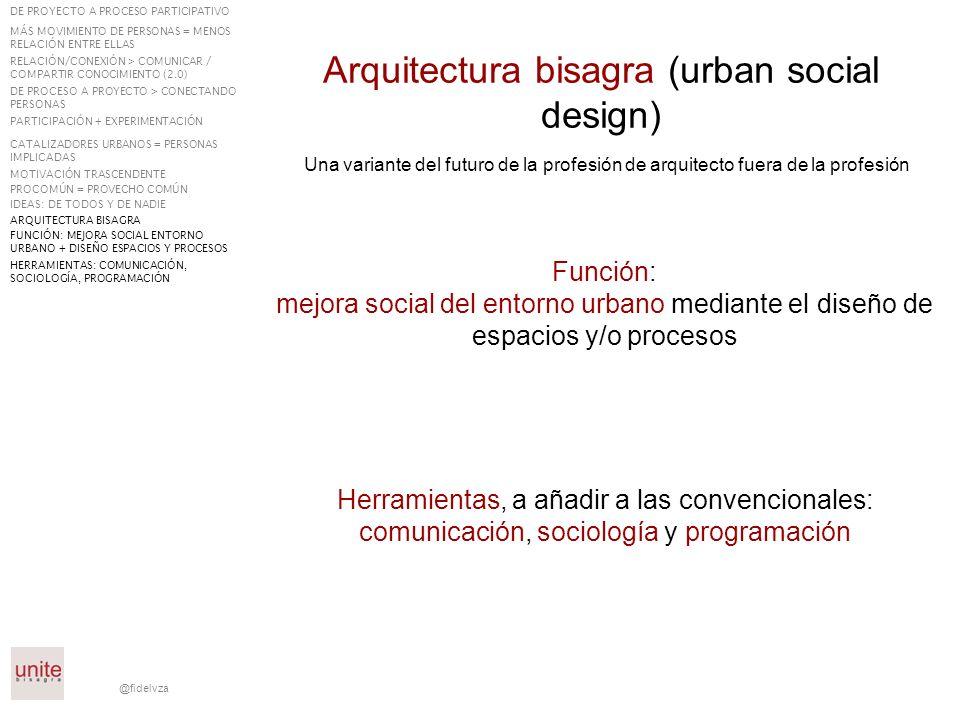 Arquitectura bisagra (urban social design)