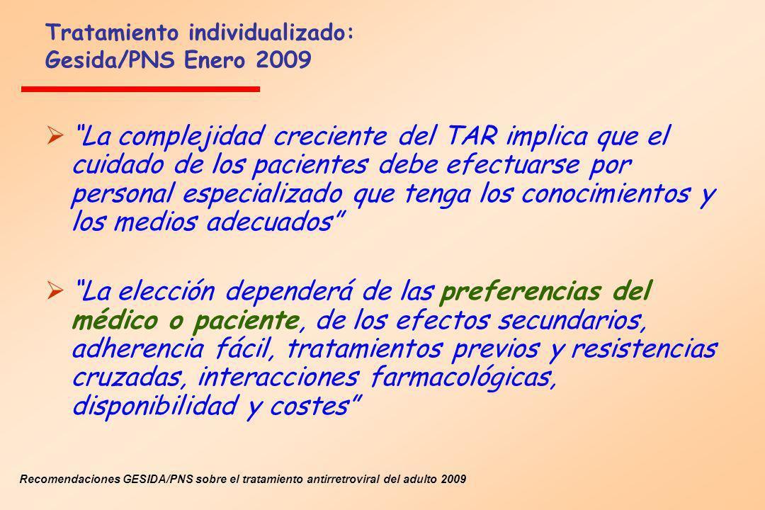 Tratamiento individualizado: Gesida/PNS Enero 2009
