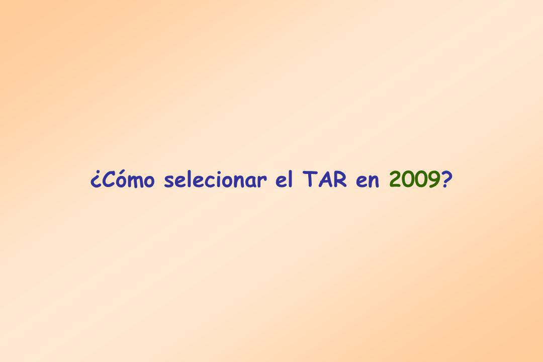 ¿Cómo selecionar el TAR en 2009