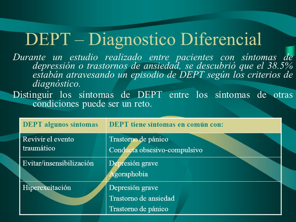 DEPT – Diagnostico Diferencial