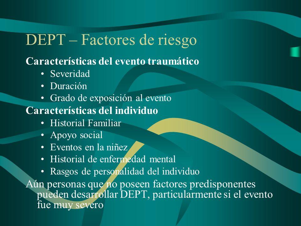 DEPT – Factores de riesgo