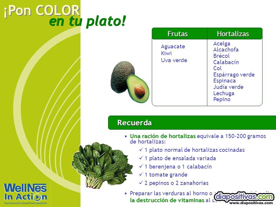 Recuerda Frutas Hortalizas Rojo Aguacate Kiwi Uva verde Acelga