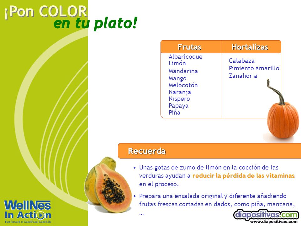 Rojo Recuerda Frutas Hortalizas Albaricoque Limón Calabaza Mandarina