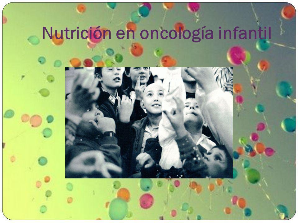 Nutrición en oncología infantil