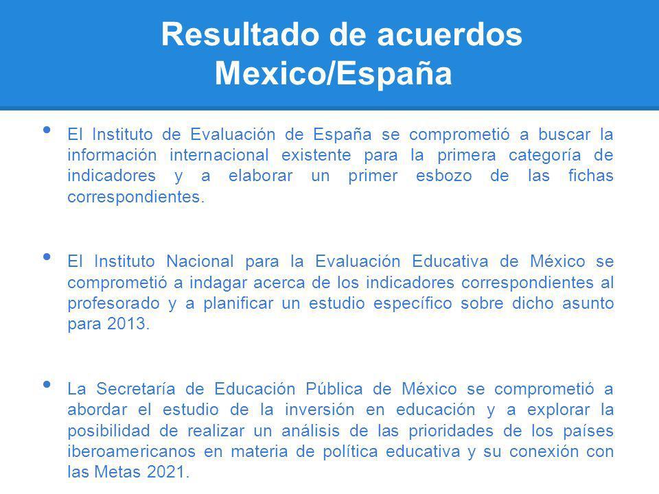Resultado de acuerdos Mexico/España