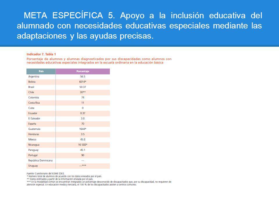 META ESPECÍFICA 5.