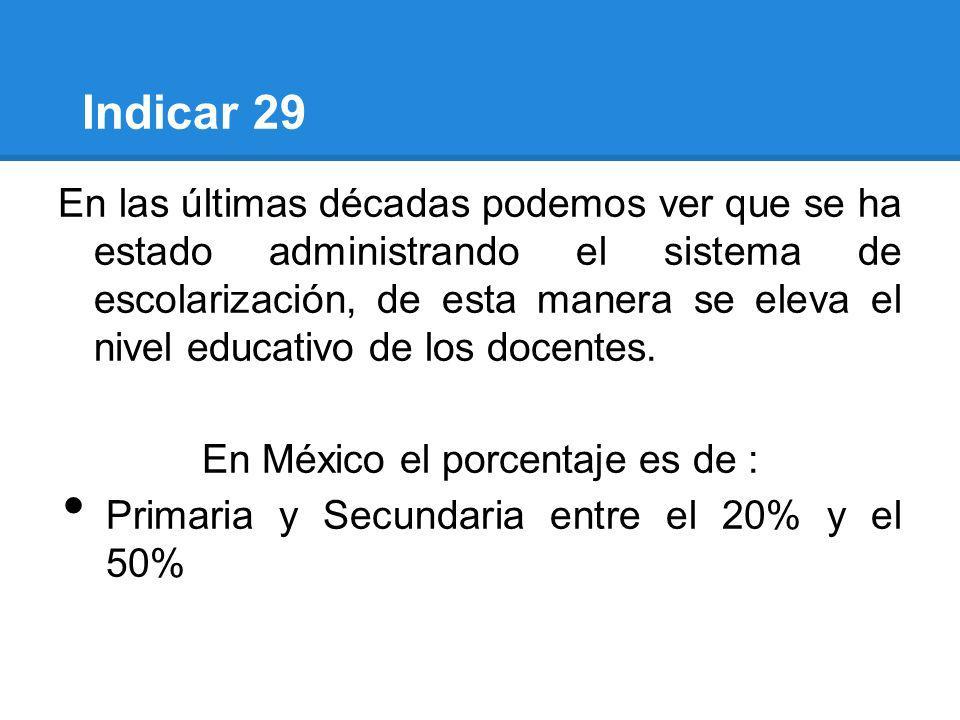 En México el porcentaje es de :