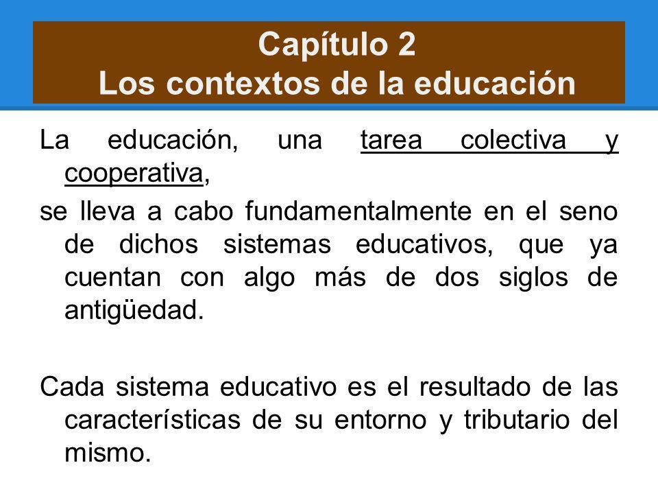 Capítulo 2 Los contextos de la educación