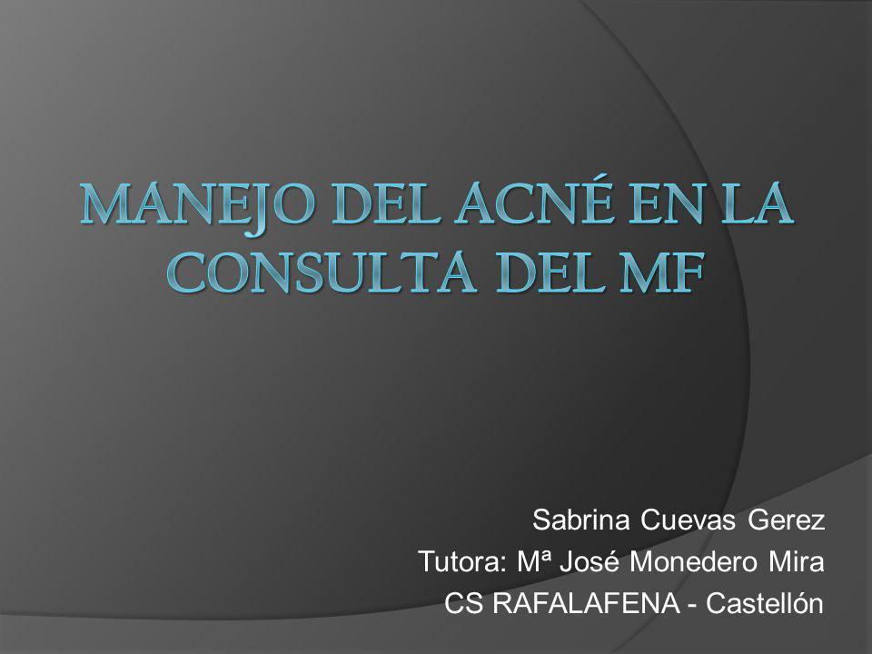 Manejo del acné en la consulta del MF