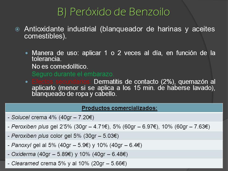 B) Peróxido de Benzoilo