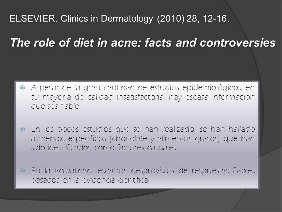 The role of diet in acne: facts and controversies