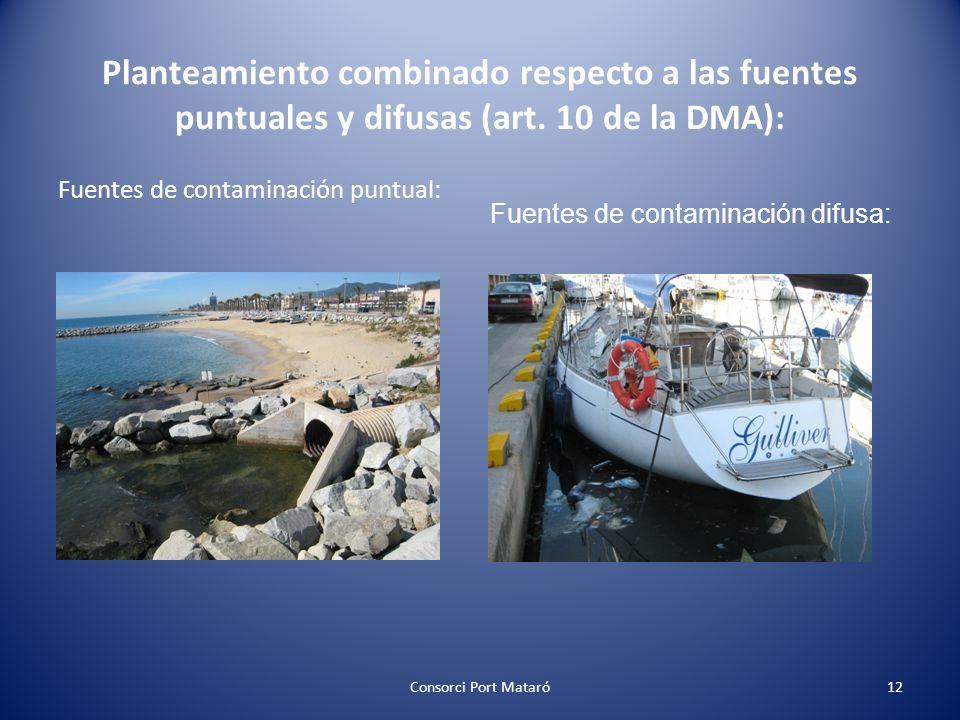 Planteamiento combinado respecto a las fuentes puntuales y difusas (art. 10 de la DMA):