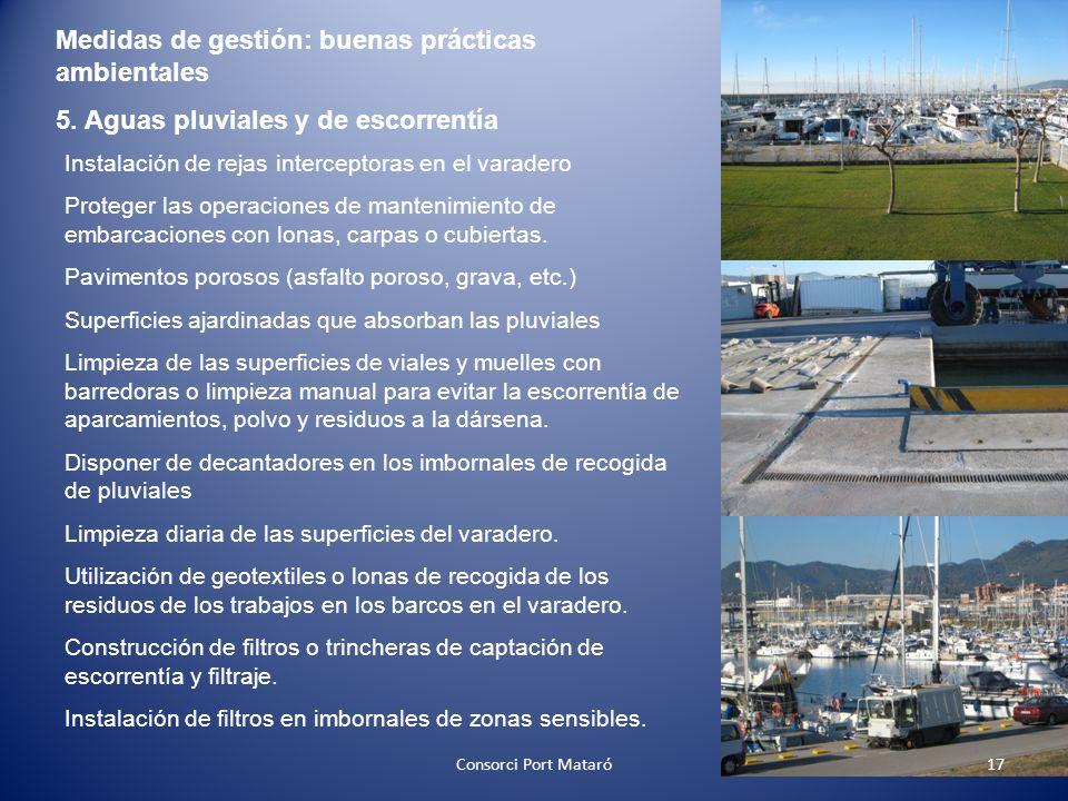 Medidas de gestión: buenas prácticas ambientales