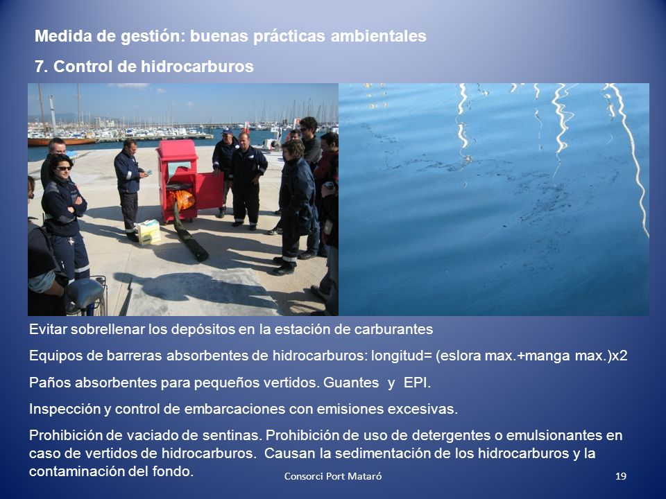 Medida de gestión: buenas prácticas ambientales