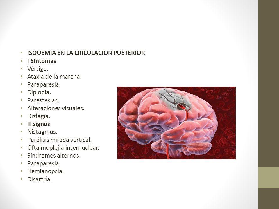 ISQUEMIA EN LA CIRCULACION POSTERIOR