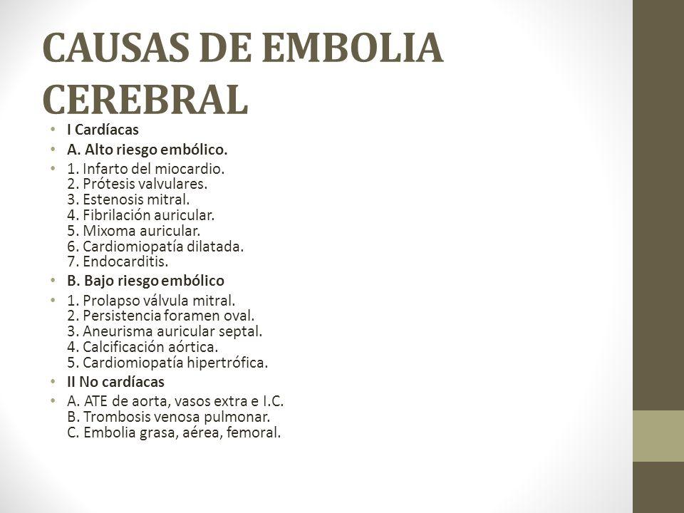CAUSAS DE EMBOLIA CEREBRAL