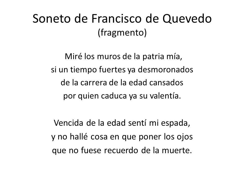Soneto de Francisco de Quevedo (fragmento)