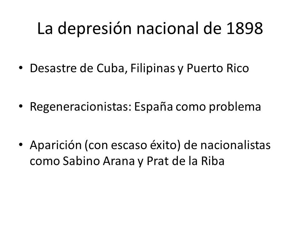 La depresión nacional de 1898