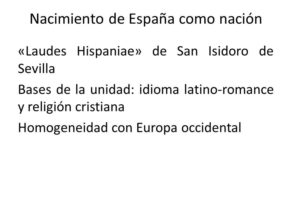 Nacimiento de España como nación