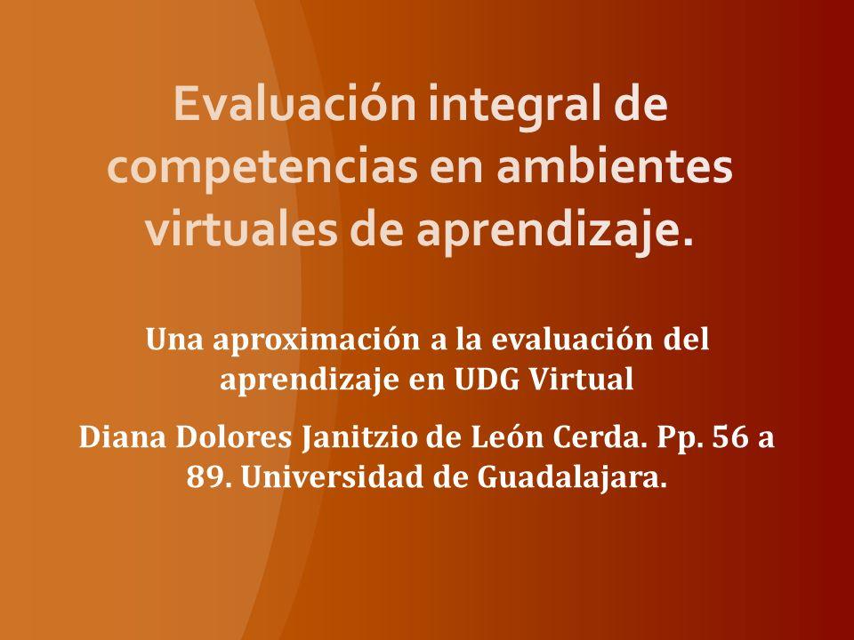 Una aproximación a la evaluación del aprendizaje en UDG Virtual
