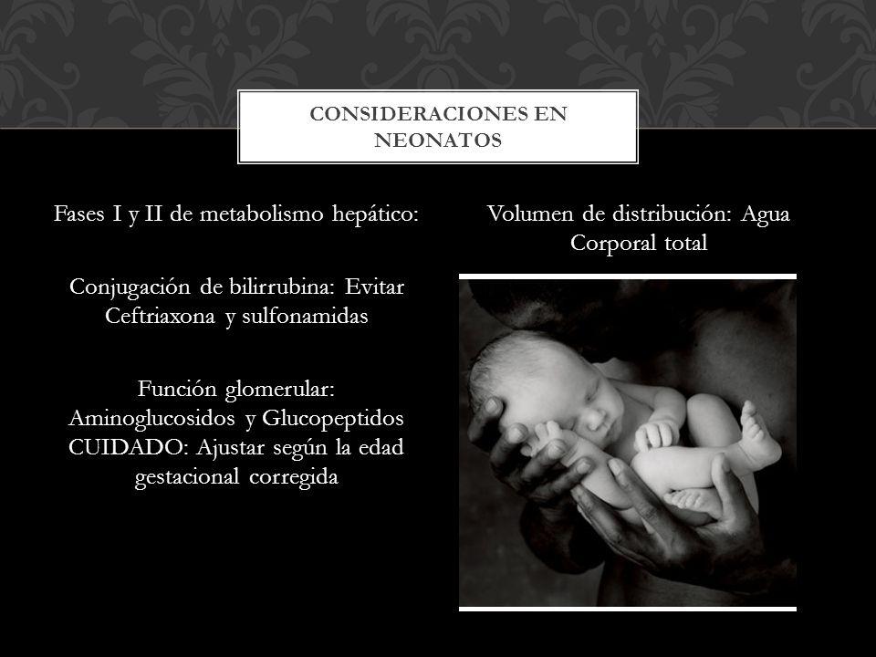 CONSIDERACIONES EN NEONATOS