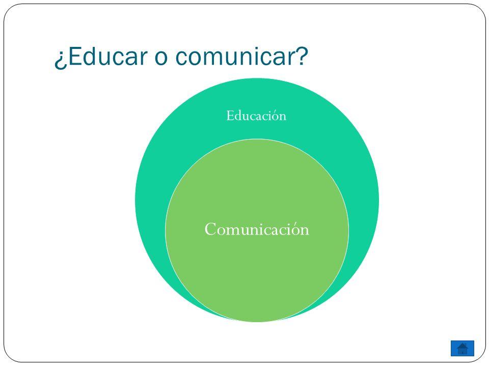 ¿Educar o comunicar Educación Comunicación