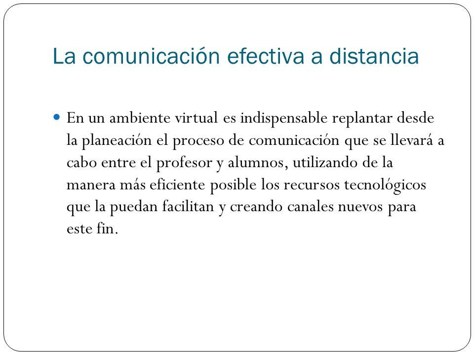 La comunicación efectiva a distancia