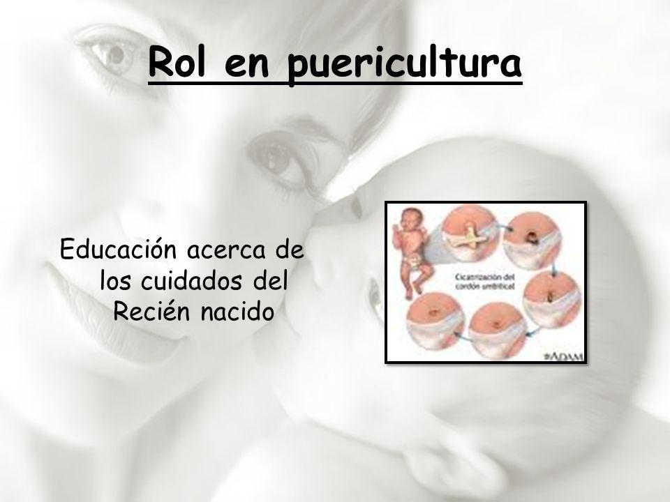 Educación acerca de los cuidados del Recién nacido