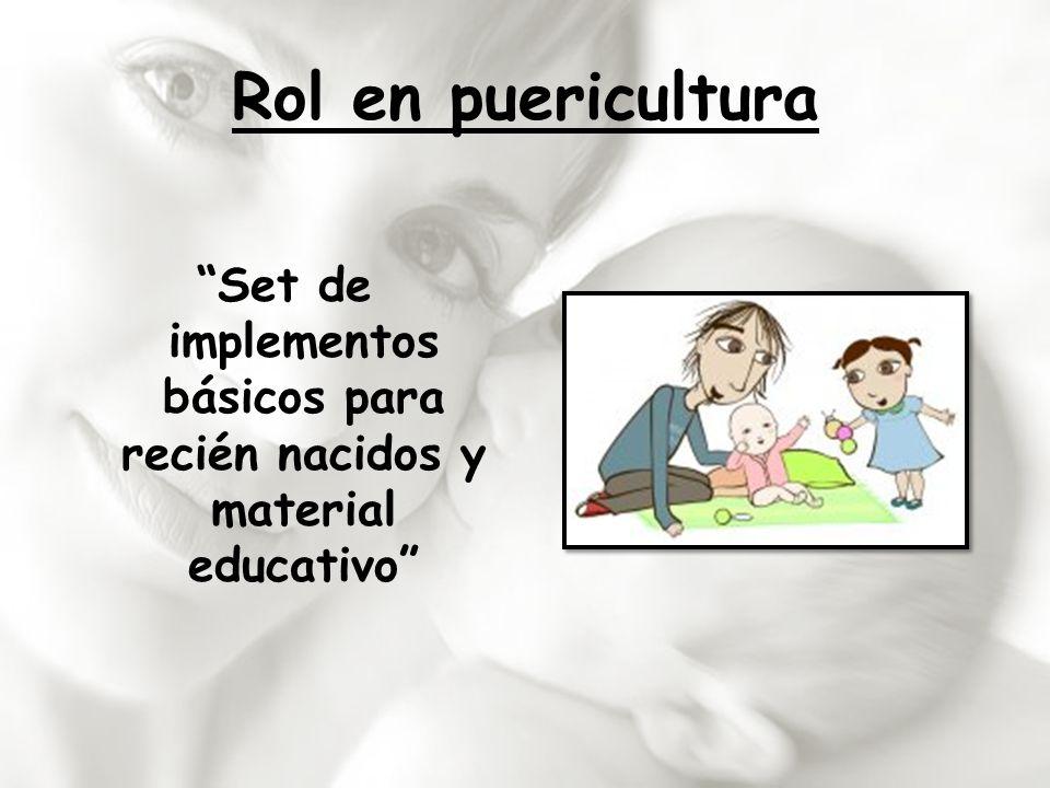 Set de implementos básicos para recién nacidos y material educativo