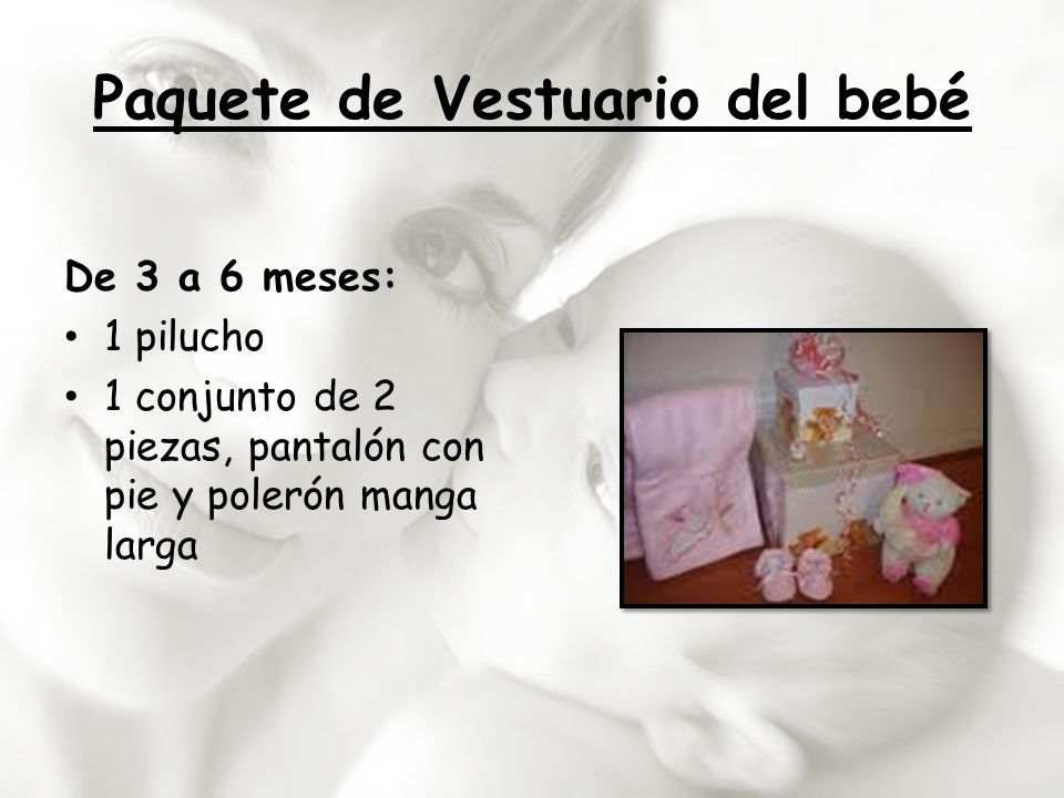 Paquete de Vestuario del bebé