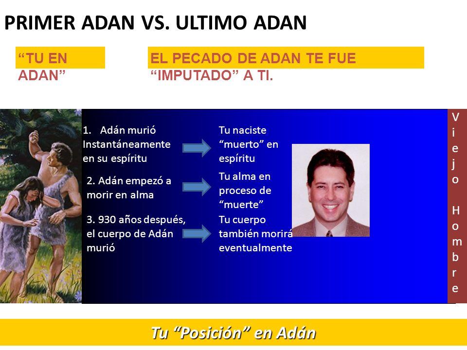 PRIMER ADAN VS. ULTIMO ADAN