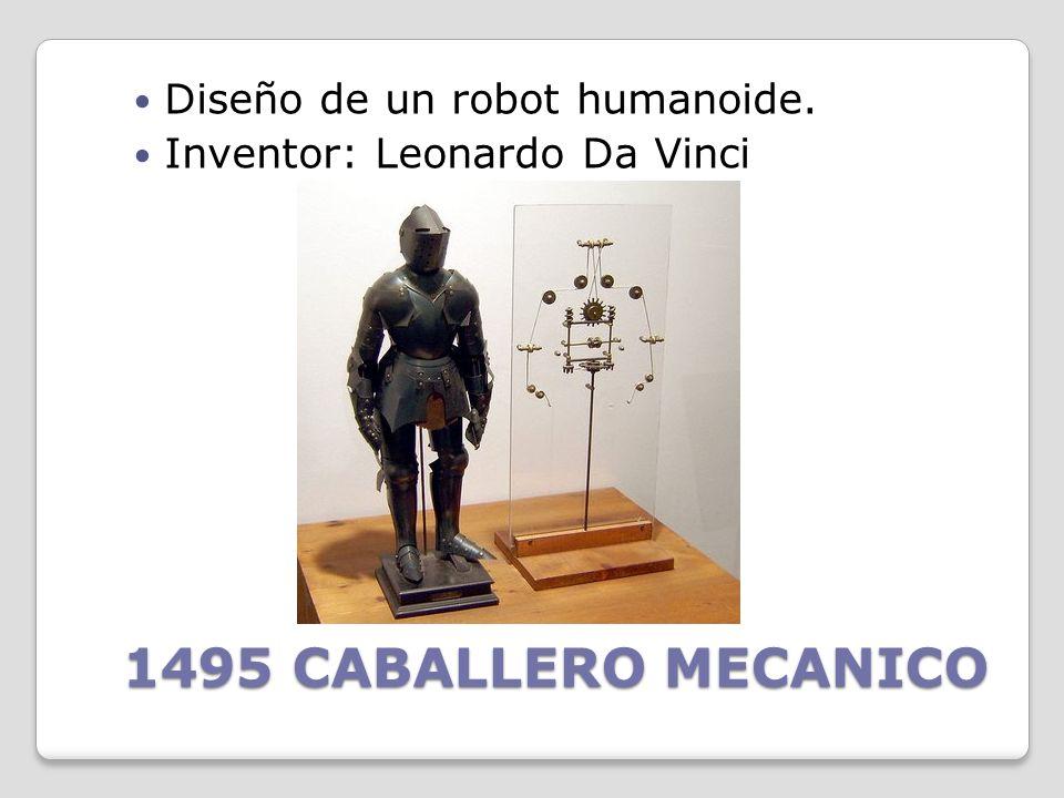 1495 CABALLERO MECANICO Diseño de un robot humanoide.