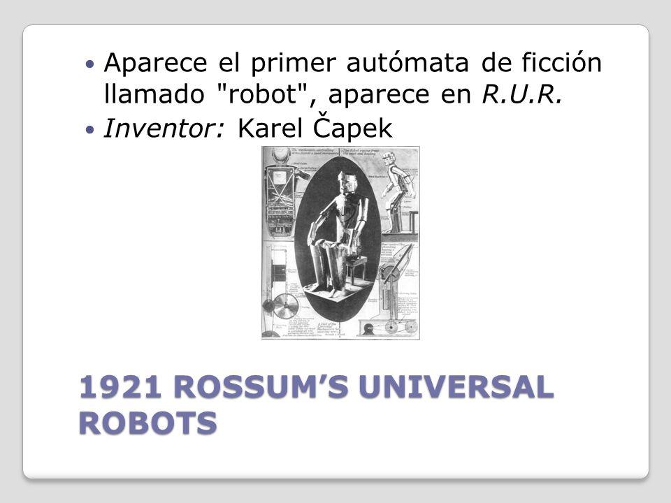 1921 ROSSUM'S UNIVERSAL ROBOTS