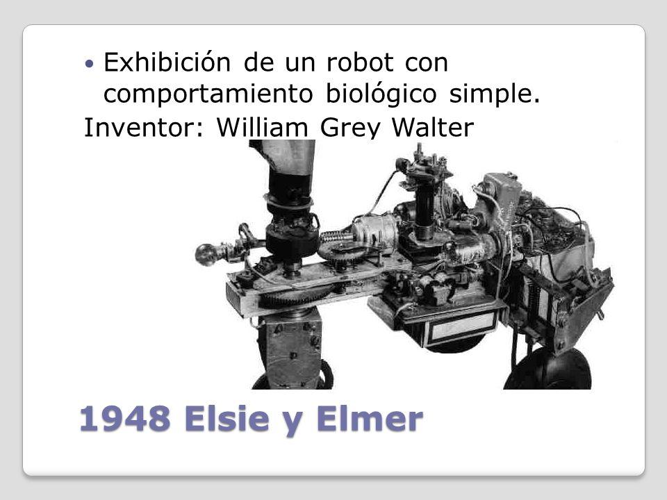 Exhibición de un robot con comportamiento biológico simple.