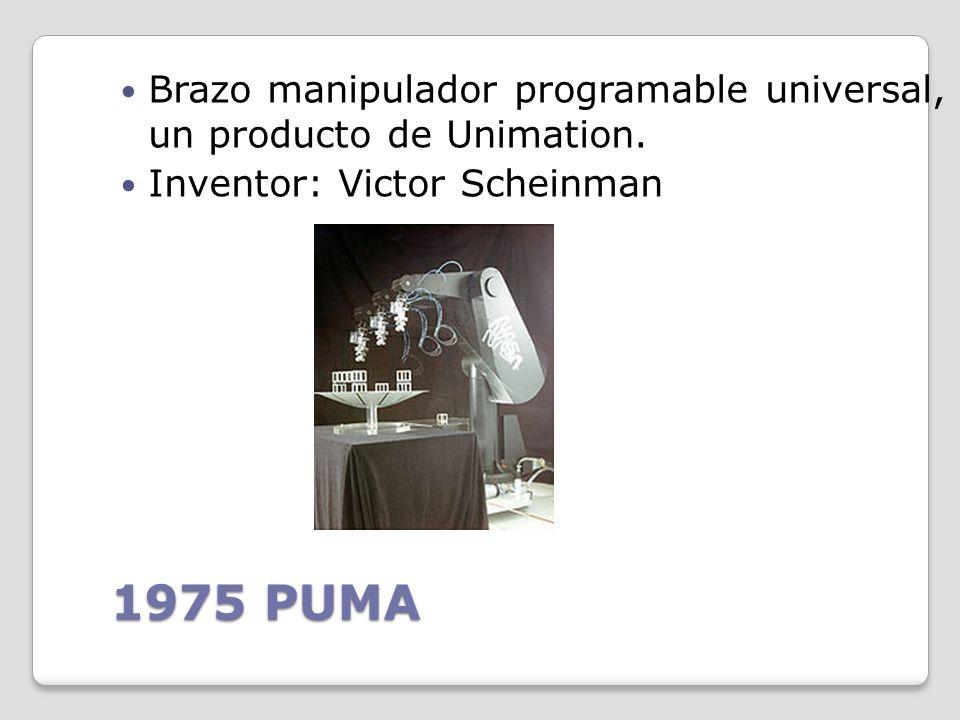 Brazo manipulador programable universal, un producto de Unimation.