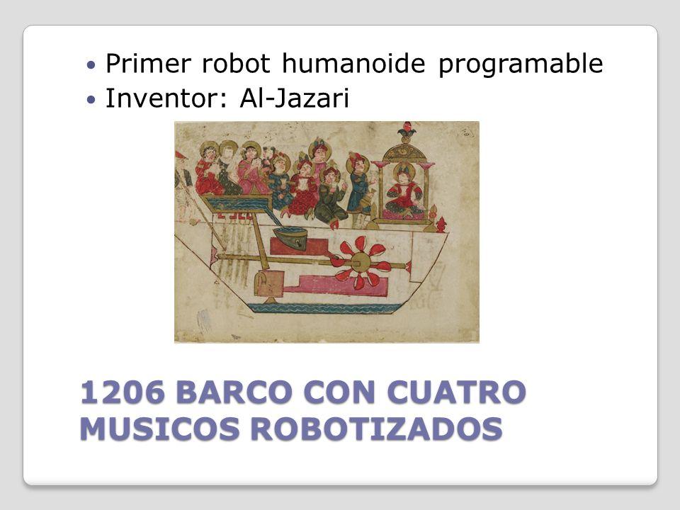 1206 BARCO CON CUATRO MUSICOS ROBOTIZADOS